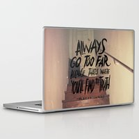 camus Laptop & iPad Skins featuring Camus on Finding the Truth by Josh LaFayette