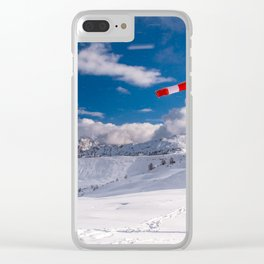 Windsock in the alps Clear iPhone Case