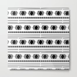 Ethnic Pattern on White Backgorund Metal Print