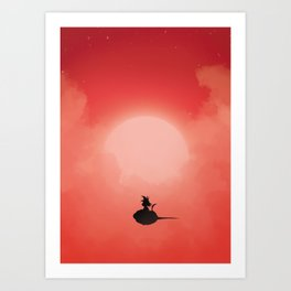 Goku's travel Art Print