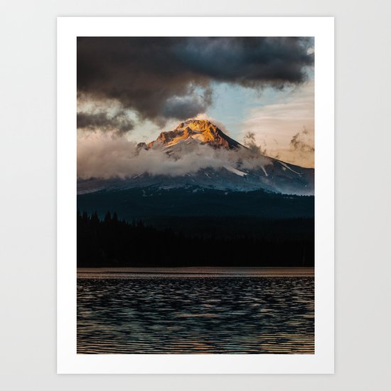 Mt. Hood at Sunset Art Print