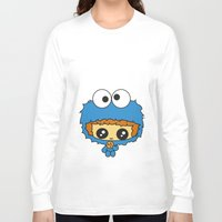 cookie monster Long Sleeve T-shirts featuring Cookie Monster Boy  by aldarwish
