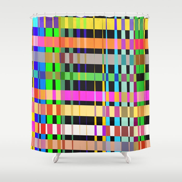 inclined coloured stripes Shower Curtain