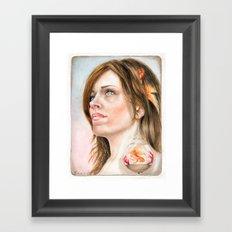 Fish Earring Framed Art Print