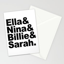 Jazz Ladies A Stationery Cards