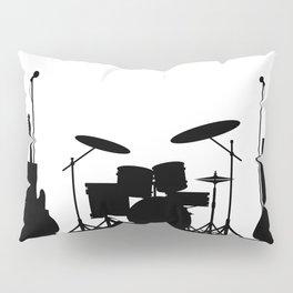 Rock Band Equipment Silhouette Pillow Sham