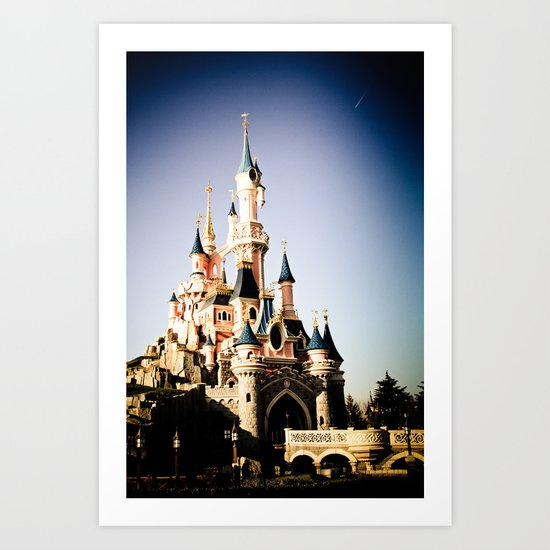 Disney Paris Art Print