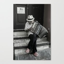 Music on the steps Canvas Print