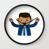 michael scott Wall Clocks featuring Michael Scott - The Office by Joe Bidmead