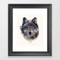 Wolf // Persevere  Framed Art Print