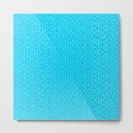 Blue Aqua (Bleu Aqua) Tres Petit Geometric Pattern Metal Print