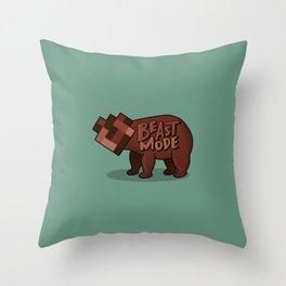 Beast Mode GREEN Throw Pillow