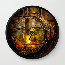 Old Train Headlight Wall Clock