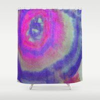 bubblegum Shower Curtains featuring Bubblegum by Georgina May