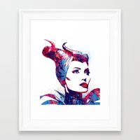 maleficent Framed Art Prints featuring Maleficent by lauramaahs