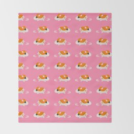"""Ticky Ticky"" - Running Hamtaro Pixel Throw Blanket"