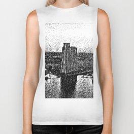 Black & White effect Baltimore City Biker Tank