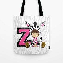 Z is for Zebra Tote Bag