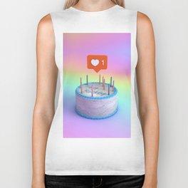 Happy Birthday Cake Biker Tank
