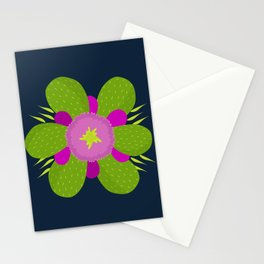 Midnight Cactus Montage Stationery Cards