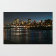 Montreal Lit Up Canvas Print