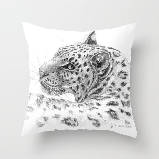 Leopard - Glance back Throw Pillow