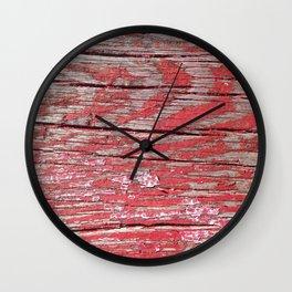 Peeled Paint on Wood rustic decor Wall Clock