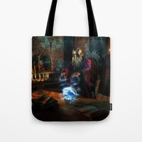 wizard Tote Bags featuring Wizard by Digital Dreams
