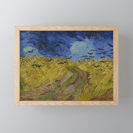 Wheatfield with Crows Framed Mini Art Print