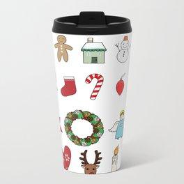 Cute Christmas goods illustration Metal Travel Mug