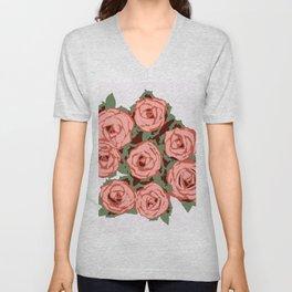 Country Roses Unisex V-Neck