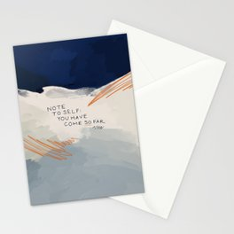 You Have Come So Far, Quote Stationery Cards