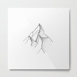 Doted Mountain Metal Print