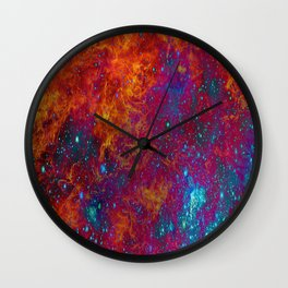 HYPNOTIC HELLFIRE BURST Wall Clock