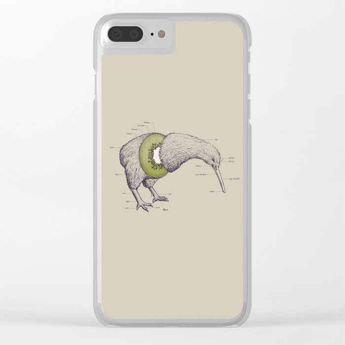 Kiwi Anatomy Clear iPhone Case