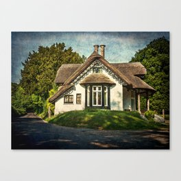 A  Thatched Cottage At Sulham Canvas Print