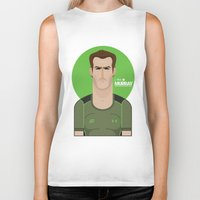 murray Biker Tanks featuring Andy Murray Tennis Illustration by Gary  Ralphs Illustrations