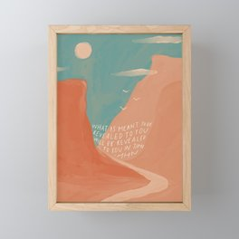 Warm Canyons - What Is Meant To Be - Quote Framed Mini Art Print