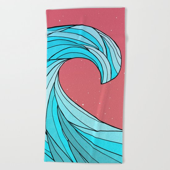 The Lone Wave Beach Towel