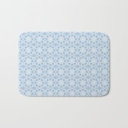 Project 503 | White Lace on Periwinkle Bath Mat