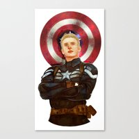 steve rogers Canvas Prints featuring Steve Rogers by chazstity