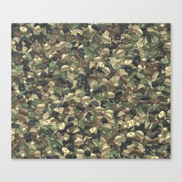 Fast food camouflage Canvas Print