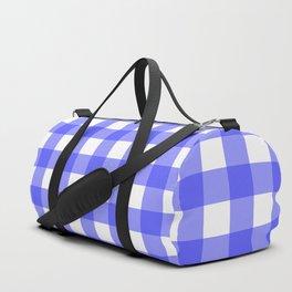 Plaid (Blue & White Pattern) Duffle Bag