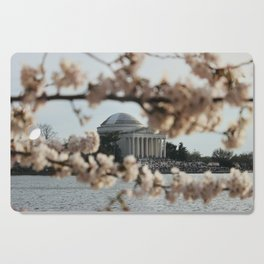 Jefferson Memorial Through the Cherry Blossoms Cutting Board