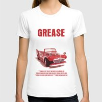 grease T-shirts featuring Grease Movie Poster by FunnyFaceArt