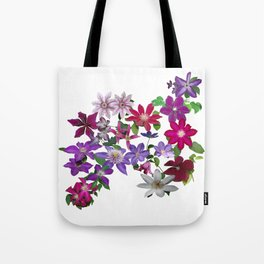 Cascade of Clematis Tote Bag