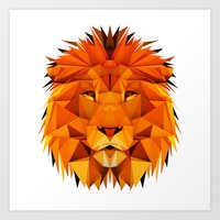 courage Art Prints featuring Courage by jenkydesign