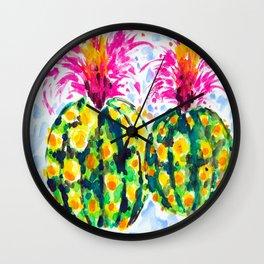 Crazy Hair Day Cactus Wall Clock