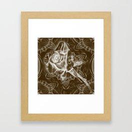Rose infrared in brown Framed Art Print