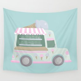 Ice Cream Truck Wall Tapestry